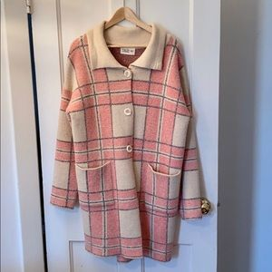 Mega Plaid Sweater Coat